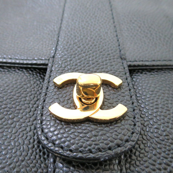 Chanel Black Caviar Satchel