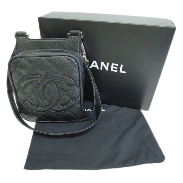 Chanel Black Caviar CC Mini Backpack