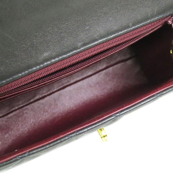 Chanel Black Lambskin Top Handle Flap Bag