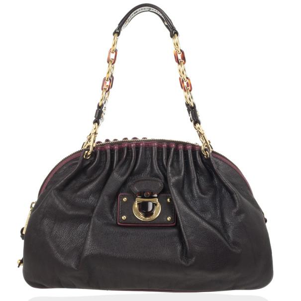 Marc Jacobs Black Leather Lou Bag
