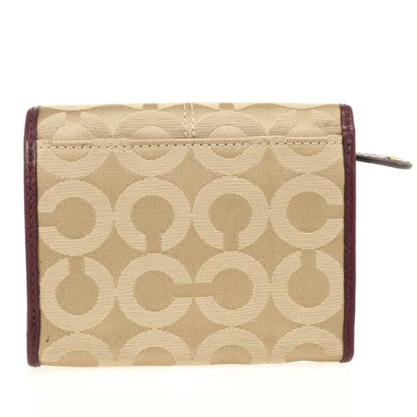 Coach Madison Op Art Sateen Small Wallet