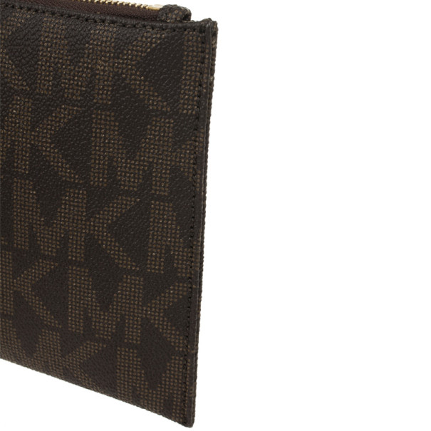 MICHAEL Michael Kors Brown Monogram Clutch Bag