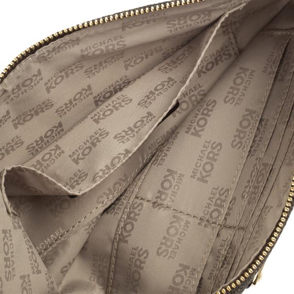 MICHAEL Michael Kors Brown Monogram Clutch Bag
