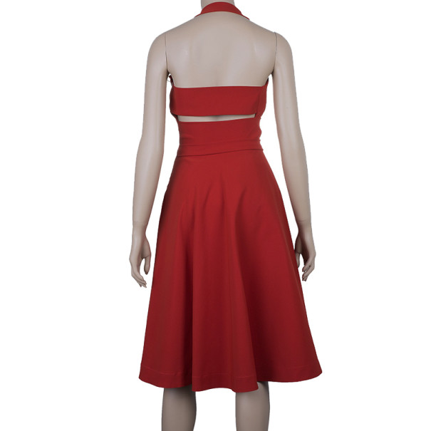 Preen by Thornton Bregazzi Red Halterneck Dress M