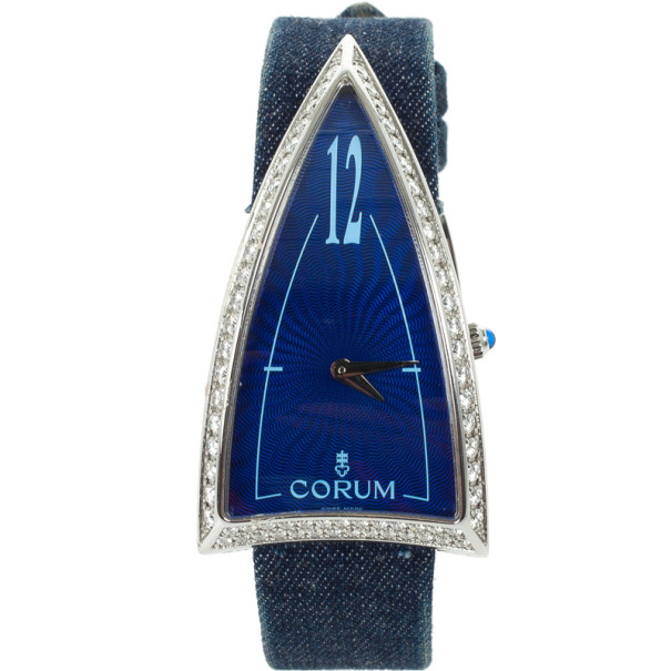 Corum Limited Edition Burj Al Arab Diamond 18 K White Gold Womens Wristwatch 29 MM