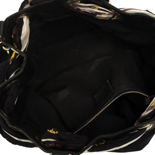 Gucci Black GG Canvas Positano Large Tote Bag