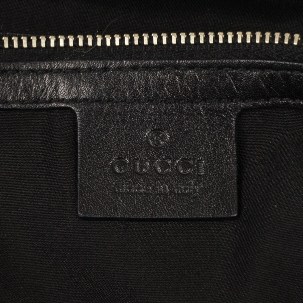 Gucci Black Monogram Horsebit Hobo