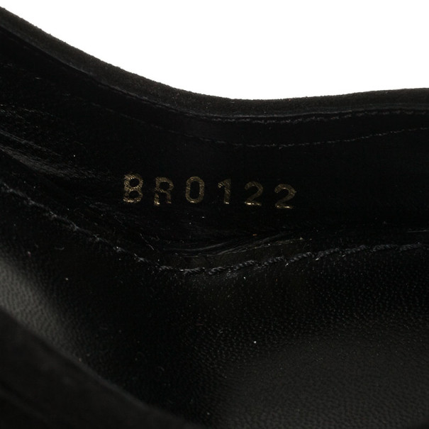 Louis Vuitton Black Suede Kimono Open Toe Platform Pumps Size 36.5