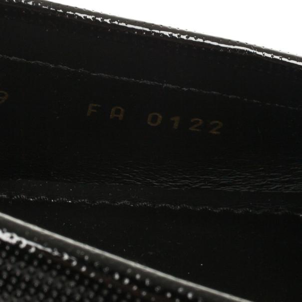 Louis Vuitton Black Patent Monte Carlo Loafers Size 43