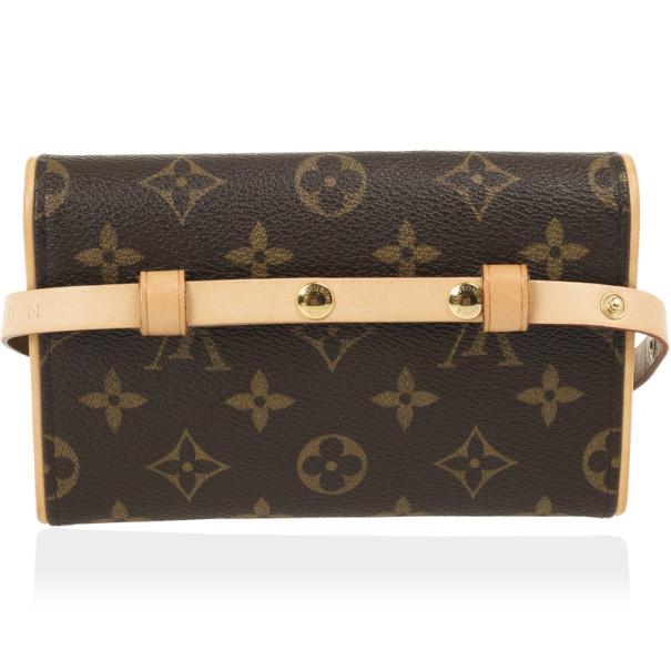 Louis Vuitton Monogram Canvas Pochette Florentine Bag with Belt