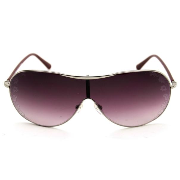 Valentino Purple V100s Flower Print Shield Womens Sunglasses