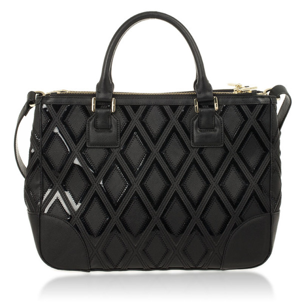 Tory Burch Robinson Patchwork Double Zip Tote