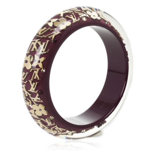 Louis Vuitton Purple Inclusion Bracelet Large