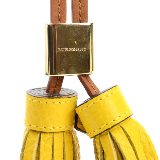 Burberry Yellow Perryton Double Tassel Keyring