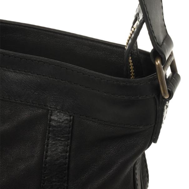 Burberry Black Leather Pasmore Crossbody Bag