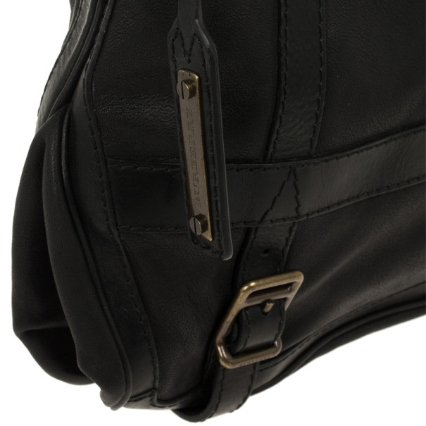 Burberry Black Leather Pasmore Crossbody Bag