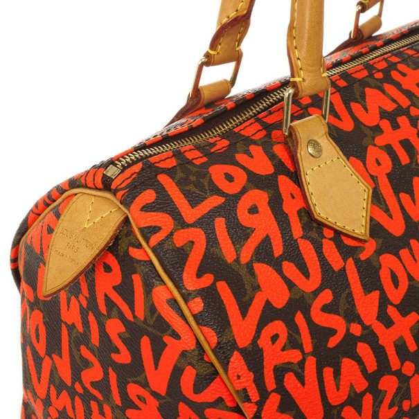 Louis Vuitton Stephen Sprouse Orange Graffiti Speedy 30