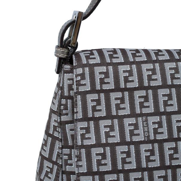 Fendi Metallic Zucchino Baguette Shoulder Bag