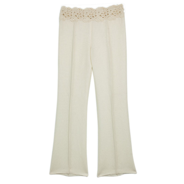 Valentino Lace Belt Linen Trousers M