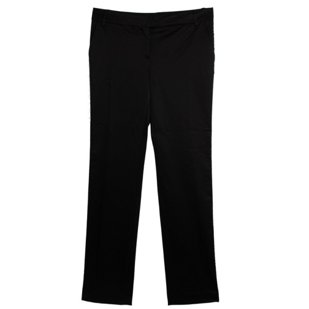 D&G Black Cotton Wool Trousers L