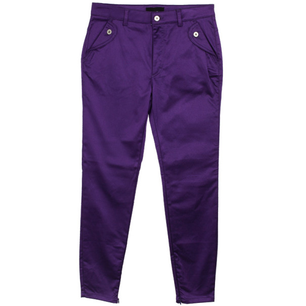 D&G Purple Satin Jeans L