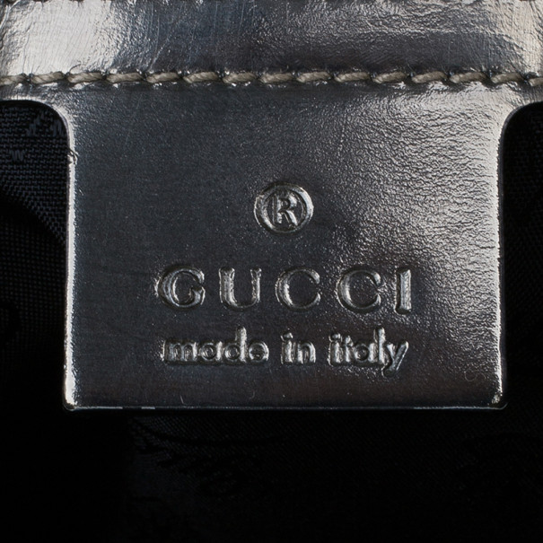 Gucci Black Patent Indy Large Patent Duotone Hobo