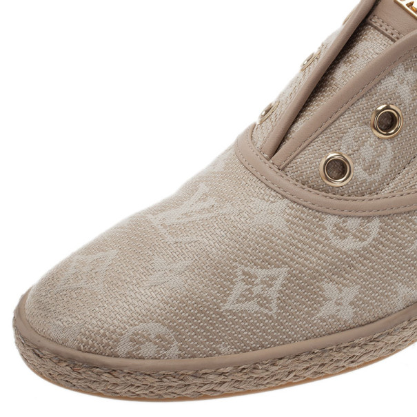 Louis Vuitton Monogram Canvas Espadrilles Sneakers Size 40