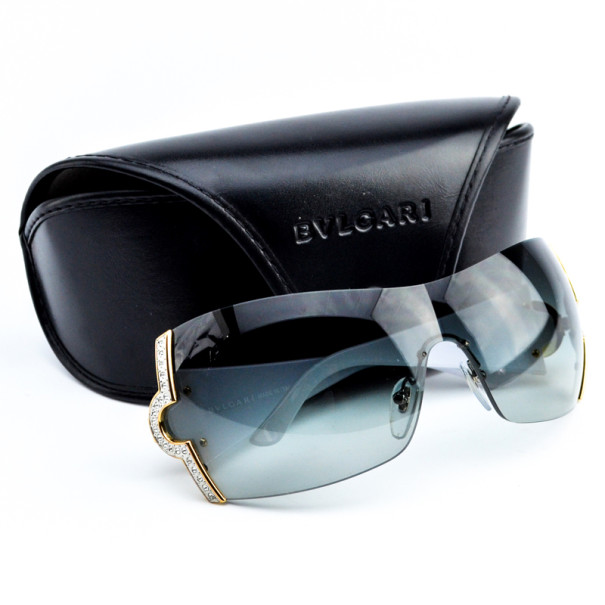 Bvlgari White 651-B Shield Woman Sunglasses
