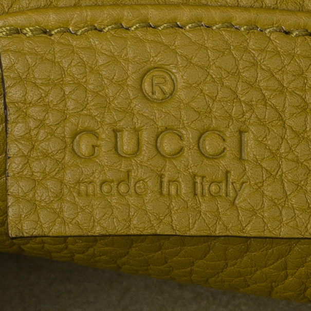Gucci Yellow Soft Leather Jackie Shoulder Bag
