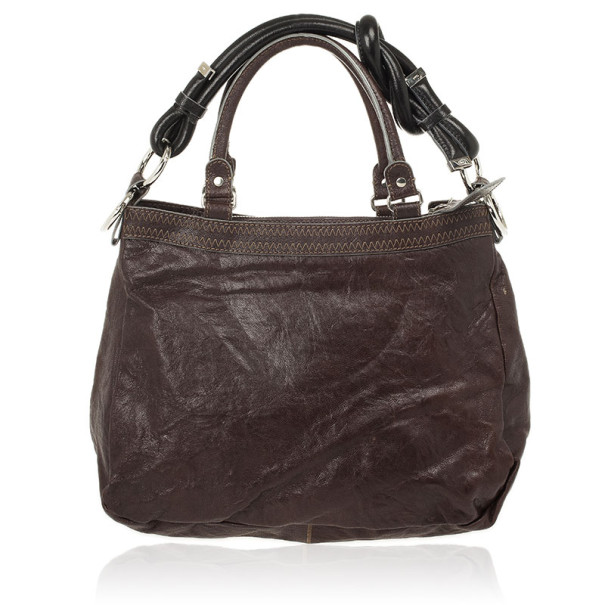 Chloe Leather Zip Side Large Tote