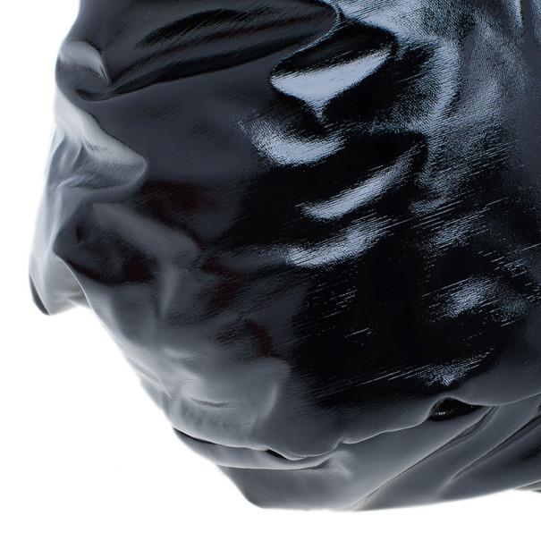 Carolina Herrera Black Patent Chain Handle Tote