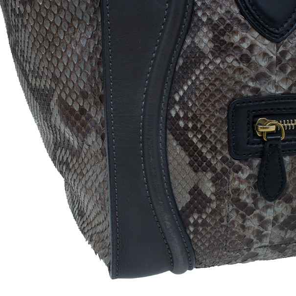 Celine Python Mini Luggage Tote