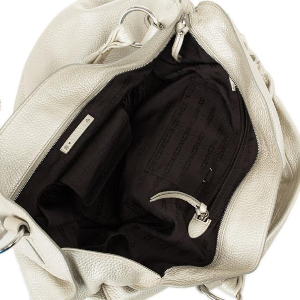 celine metallic leather clutch bag