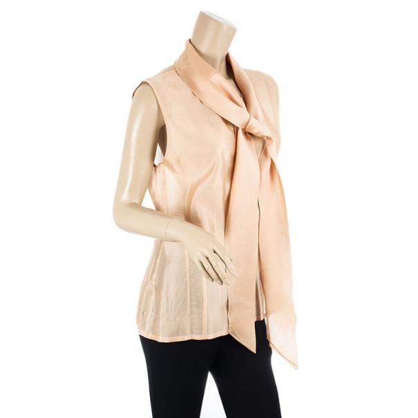 Hermes Front Tie Peach Top XL
