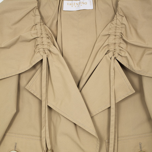 Valentino Cream Cotton Jacket M