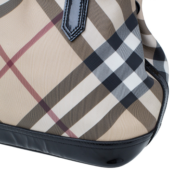 Burberry Nova Check Canvas Tote