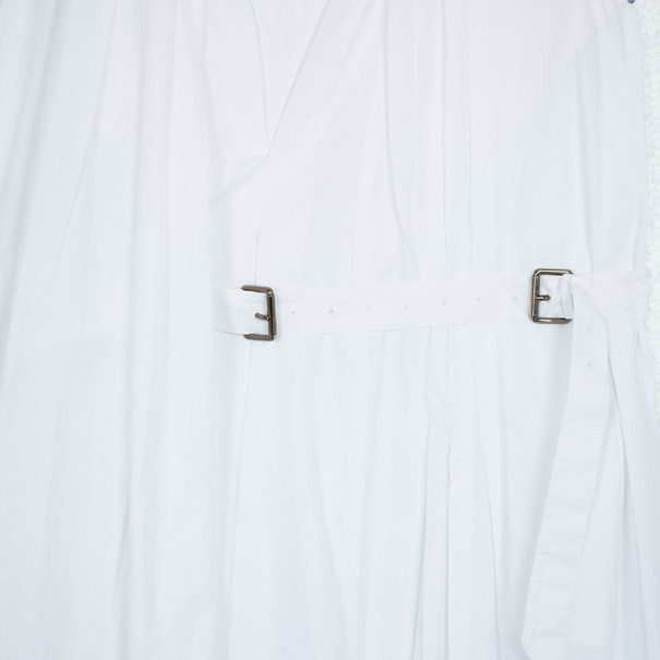 Salvatore Ferragamo White Cotton Dress L