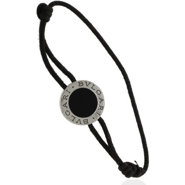 Bvlgari Silver Onyx Bracelet