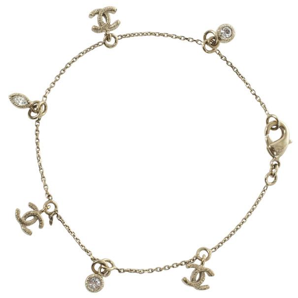 Chanel CC Logo Charms Bracelet
