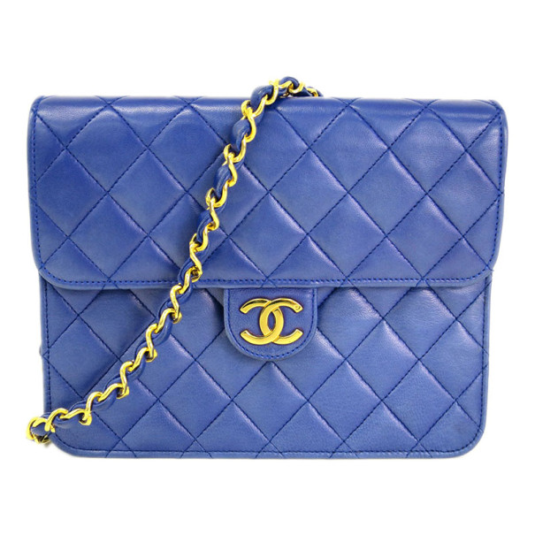 Chanel Purple Lambskin Square Flap Bag