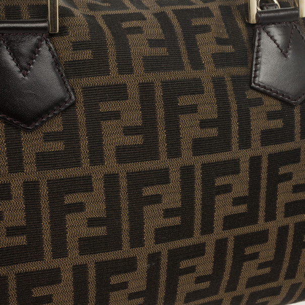 Fendi Zucca Chef Medium Boston Bag