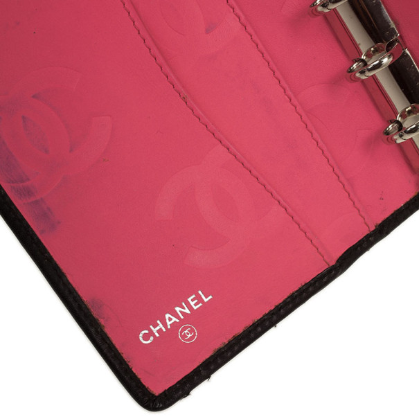 Chanel Black Cambon Quilted Agenda Cover