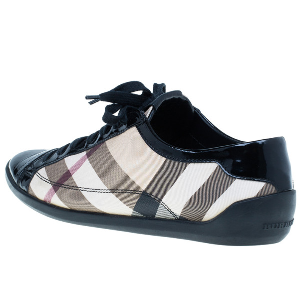 Burberry Novacheck Canvas and Leather Sneakers Size 39