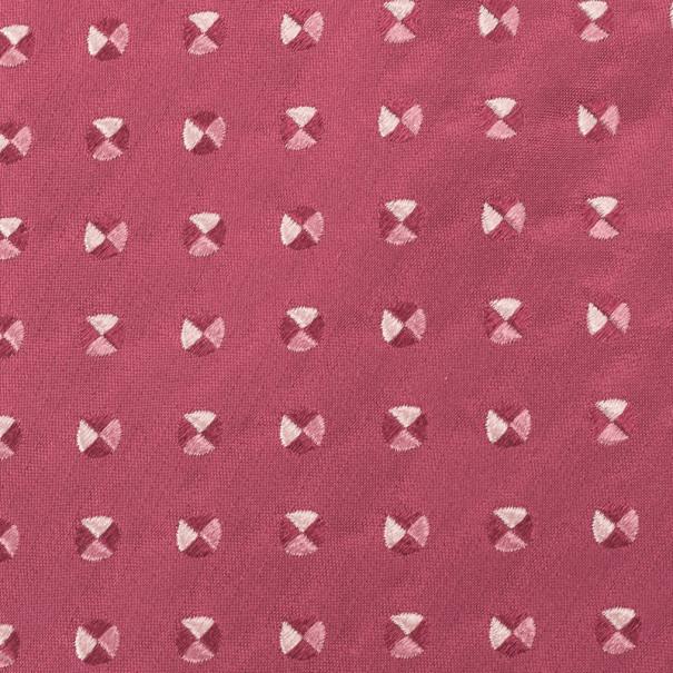 Giorgio Armani Pink Woven Silk Tie