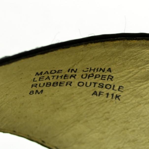 MICHAEL Michael Kors Black Patent Ankle Strap Sandals Size 38.5
