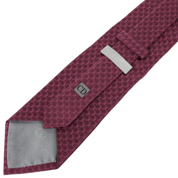 Christian Dior Pink Silk Tie