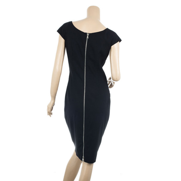 Dolce and Gabbana Fitted Square-neck Dress M