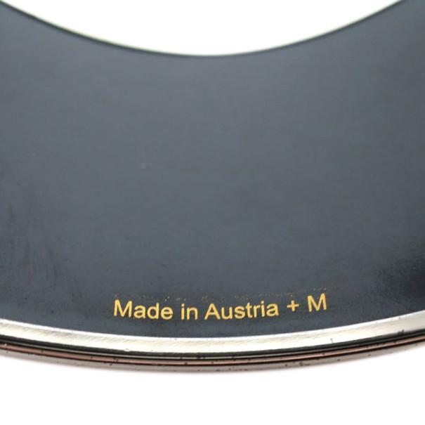 Hermes Extra Wide Printed Tohu Bohu Orange Bracelet 20CM