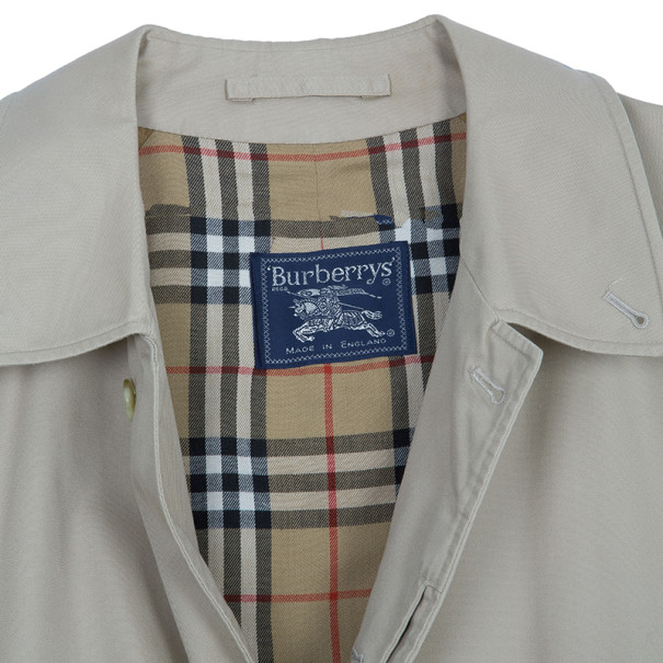 Burberry Taupe Men's Cotton Twill Trench Coat XXXL