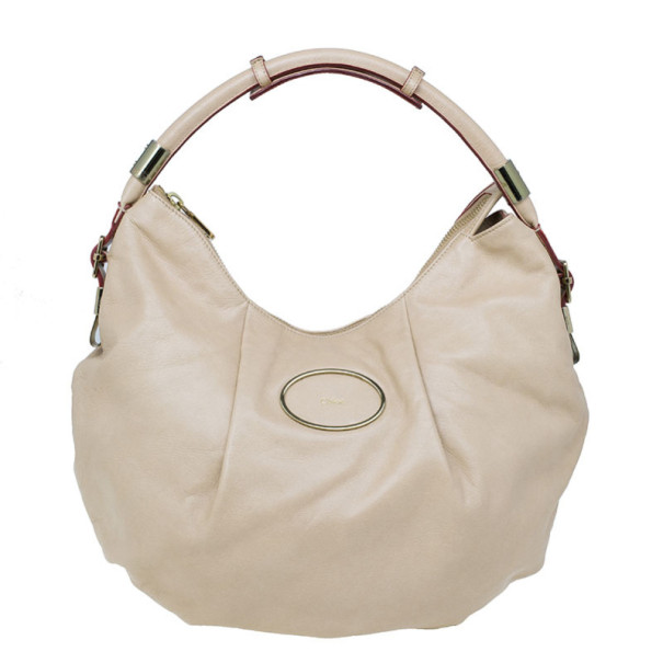 Chloe Gold Leather Large Ethel Hobo